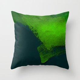 brush stroke aquamarine Throw Pillow
