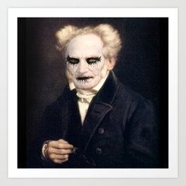 Black Metal Schopenhauer Art Print