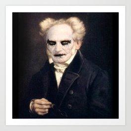 Black Metal Schopenhauer Art Print