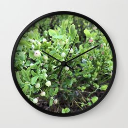 Green forest berries Wall Clock