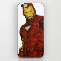 iron man iPhone & iPod Skins featuring Iron Man by DeMoose_Art