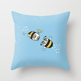 Love bees  Throw Pillow