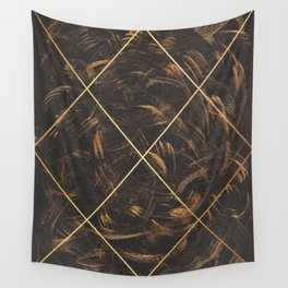 Gold & Paint Strokes 01 Wall Tapestry