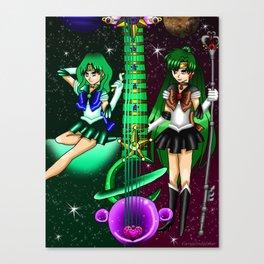 Fusion Sailor Moon Guitar #42 - Sailor Neptune & Sailor Pluto Canvas Print