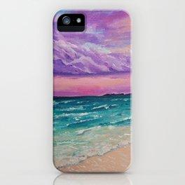 Sombre purple sky iPhone Case