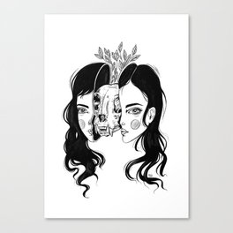 Spit In Two Canvas Print