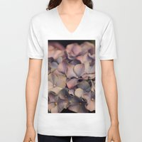 hydrangea V-neck T-shirts featuring Hydrangea by Pia Spieler