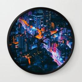 Cityscape Night View Wall Clock