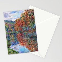 Le bras de Jeufosse, Autumn by Claude Monet Stationery Cards