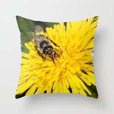 Bees tongue Throw Pillow