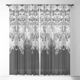 Kryptonite - Black & White Sheer Curtain