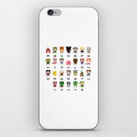 video games iPhone & iPod Skins featuring Video Games Pixel Alphabet by PixelPower