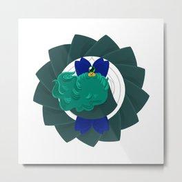 Spinning Senshi - Neptune Metal Print