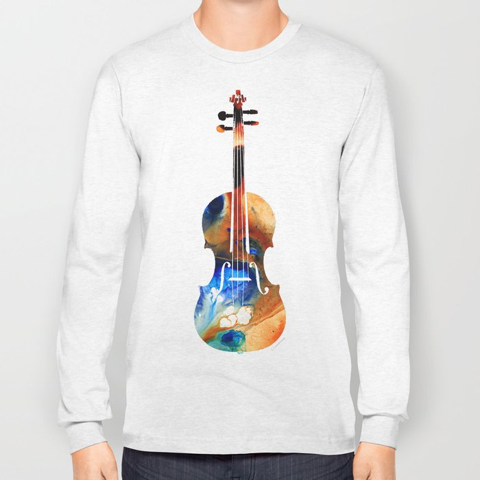 Violin Art By Sharon Cummings Long Sleeve T-shirt