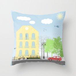 Urban scene Throw Pillow