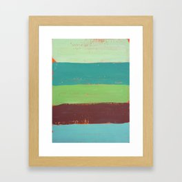 Abstract Painting - Horizontal Stripes Framed Art Print