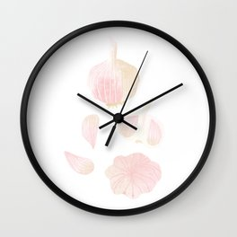 Garlic Illustration Wall Clock