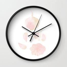 Garlic Illustration Wall Clock