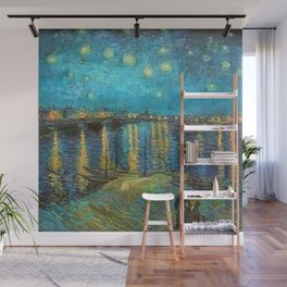 Starry Night Over the Rhone River by Vincent van Gogh Wall Mural