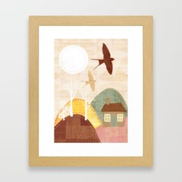 Patchwork Land Framed Art Print