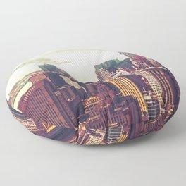 New York City Skyline Colors Floor Pillow