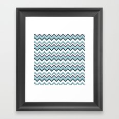Zagged Chevron Framed Art Print