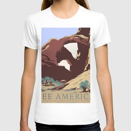 See America National Park Poster T-shirt
