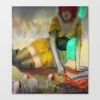 transistor Canvas Prints featuring Transistor  by Ormille