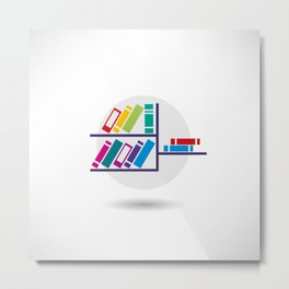 Book icon Metal Print