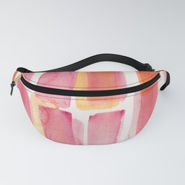 Pink Orange Watercolour Patterns | 190129 Abstract Art Watercolour Fanny Pack