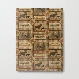 Moose Cabin Metal Print