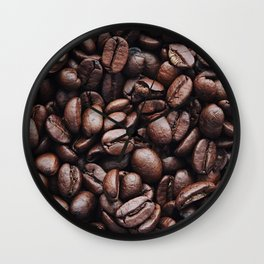 Coffee beans pattern Wall Clock