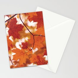 Fluttering from the Autumn tree Stationery Cards