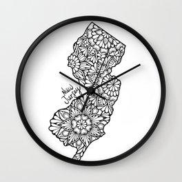 New Jersey Mandala Wall Clock