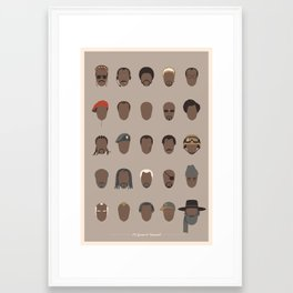 25 FACES OF SAMUEL Framed Art Print