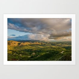 """Far over the mystic mountains..."" Art Print"