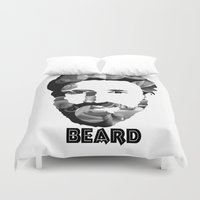 beard Duvet Covers featuring Beard! by Joséphine and friends/ et ses amis!