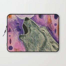 Spirit Wolf - Gold Lotus Oracle Laptop Sleeve