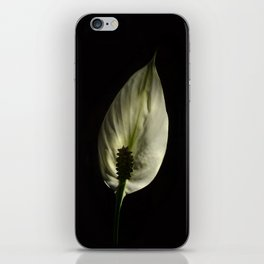 Spathiphyllum, Peace lily iPhone Skin