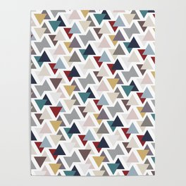 Scatter triangles Poster