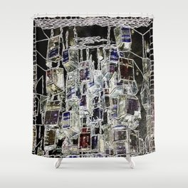 Abstract cityscape Shower Curtain