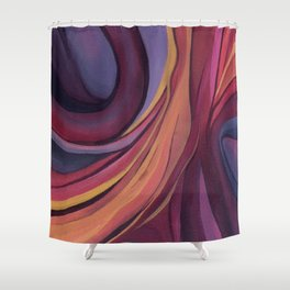 Color Ring Shower Curtain