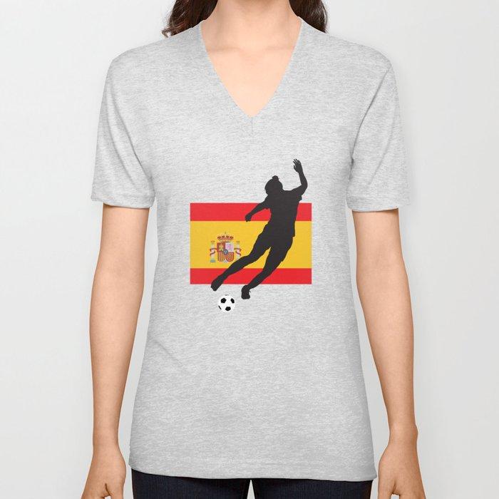 Spain - WWC Unisex V-Neck