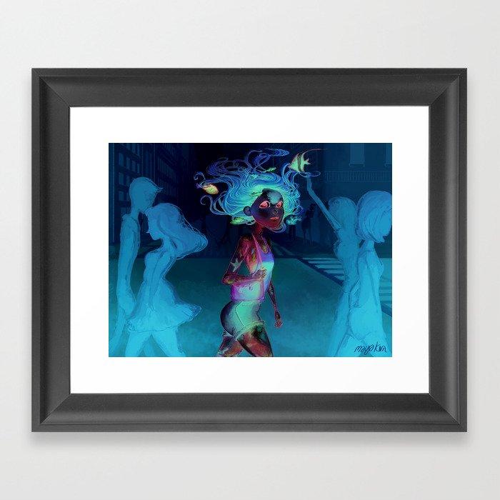 water walker Framed Art Print