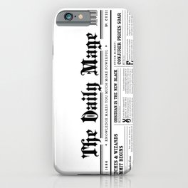 The Daily Mage Fantasy Newspaper iPhone Case