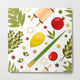 Sukkot pattern Metal Print