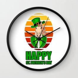 ST PATRICKS DAY UNICORN Ireland Gift Kids Wall Clock