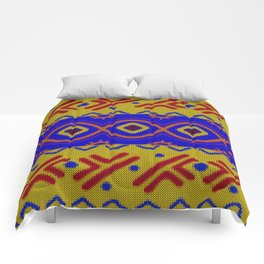 Ethnic African Knitted style design Comforters