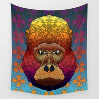 gorilla Wall Tapestries featuring Gorilla by Dusty Goods