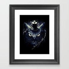 Meowl (Blue) Framed Art Print